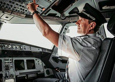 profissionais de aviação