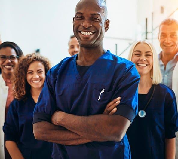 profissionais de saúde nos EUA